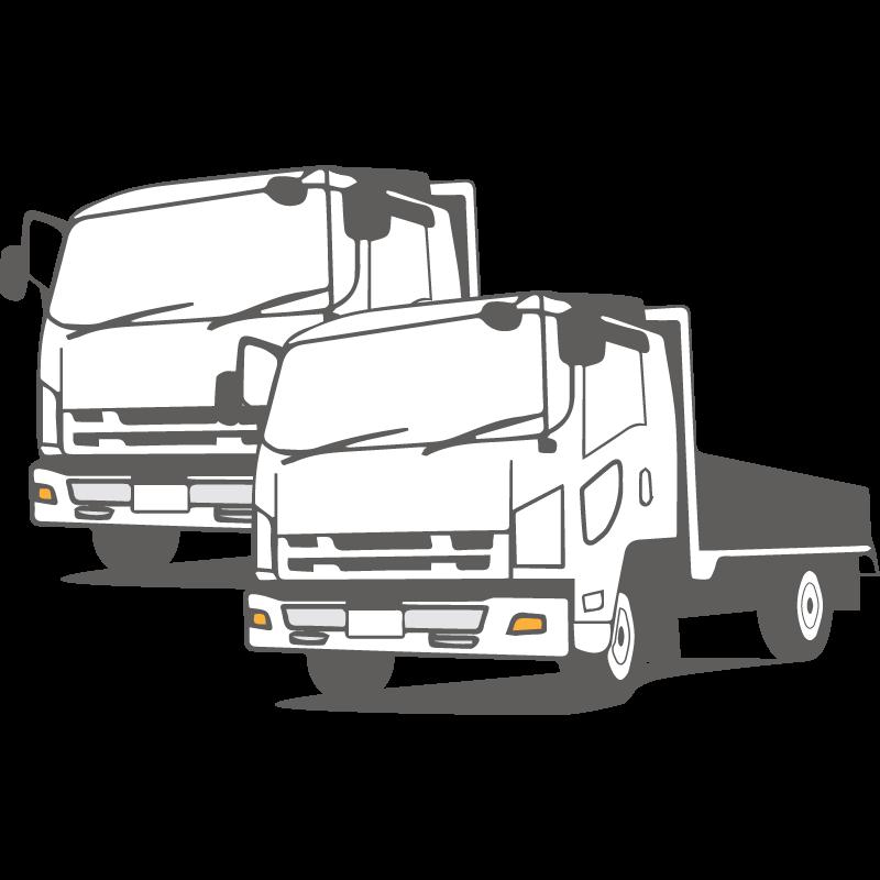 2tトラックパック × 2台